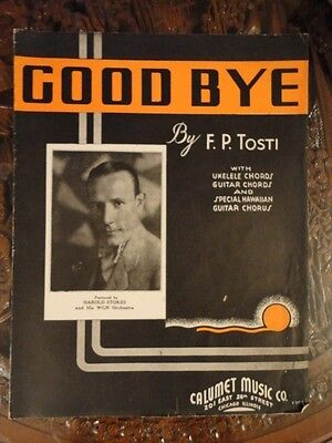Good Bye Sheet Music 1935 by Tosi Grt 2 Frame Vintage