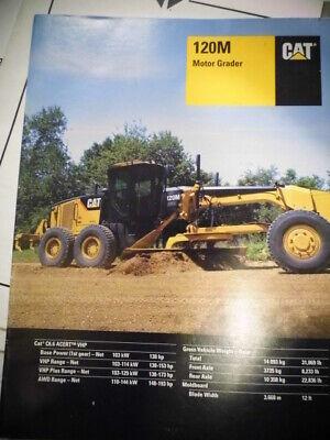 2009 Cat Caterpillar 120 Motor Grader Sales Brochure Information Manual
