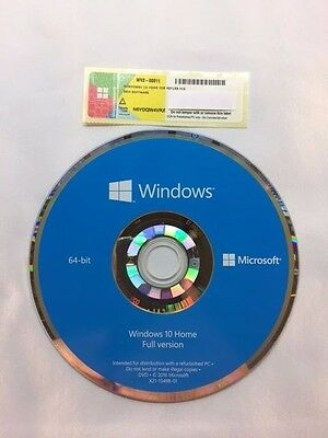 Genuine Microsoft Windows 10 Home 64bit + License and Activation Key