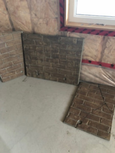 Napoleon Fireplace Brick inserts for gas fireplace.