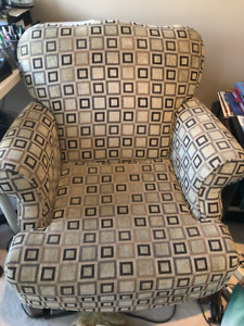 Contemporary wing back chair from DeBoers