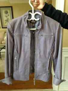 Lilac Coloured Leather Jacket from Danier Leather