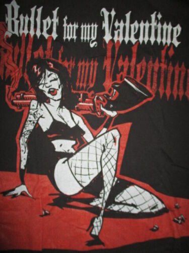 """BULLET FOR MY VALENTINE """"Merry F_____ Christmas"""" Concert Tour (XL) T-Shirt"""