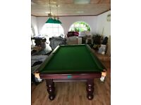 Snooker Table Turned Leg (9x4 Slate Bed) - Pool Table (3/4 Table)