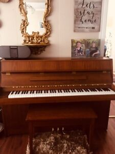 KAWAI upright  piano and bench for sale in Provost, AB