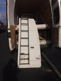 transit van rear door high top with ladder good condition driver's side