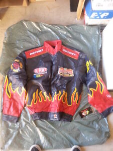 JACKETS COATS NASCAR RACE TWILL & LEATHER NEW