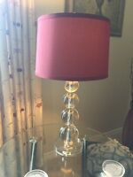 Red lamps with shade (2 available 30/each)