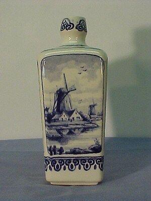 Vintage DELFT Blue/White Tapered VASE WESTRAVEN 8 1/2