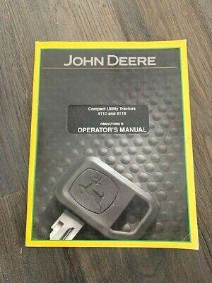 John Deere 4110 4115 Compact Utility Tractor Operators Manual Omlvu13326 I3