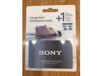Sony Premium Services 1 year Extended Service Plan for Sony cameras/camcorders/lenses - unused