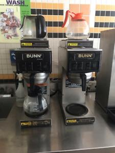 2 automatic Bunn coffee makers