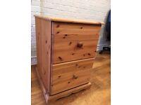 Two drawer pine filing cabinet