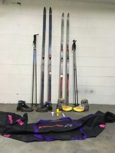 Two Complete X-Country Ski Sets