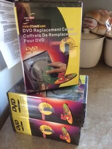 DVD - CD- Game Disc Replacement Cases - 5pk