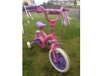 NEW BARBIE BICYCLE WITH TRAINING WHEELS