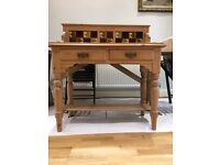 Victorian pine washstand, tiled, can be used as dressing table