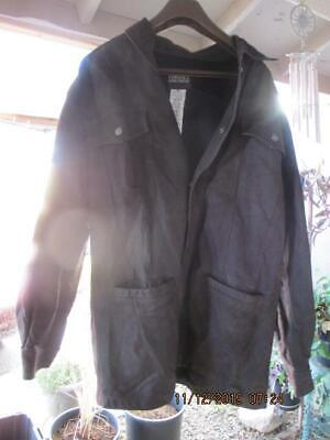 r19) Versace Jean Culture Men's XXL Leather Mid Length Jacket Coat
