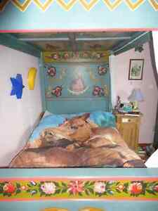 bed and armoire Cambridge Kitchener Area image 2