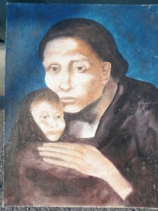 Mother and Child Oil Painting by Grace  20x30