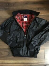 Men's Fred Perry leather Harrington jacket