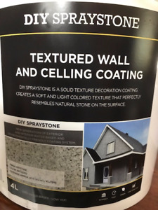 LIQUIDATION!!!TEXTURE WALL AND CELLING COATING, DIY SPRAYSTONE