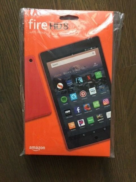 """Amazon Kindle Fire Hd 8 Tablet, 8"""", 16 Gb - Red (8th Gen, 2018, Latest)"""