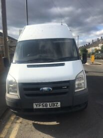 Ford Transit 100 T350 LWB - 2009 (58 reg) - MOT AUG 2018 - NOT DRIVEABLE -SPARES OR REPAIRS ONLY