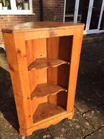 Antique wood corner unit for sale