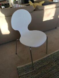 White Desk / Dining Chair