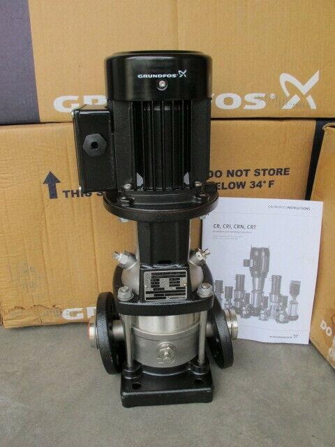 Grundfos 96516851 CRN3-4 Vertical, Multistage Centrifugal Pump - 2 Pole 0.75 HP