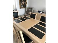 Dining Room table & 6 chairs & matching sideboard