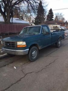 95 Ford truck Just put in a new water pump.