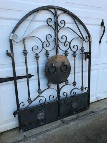 Tuscan Old World Iron Scroll Garden Gate
