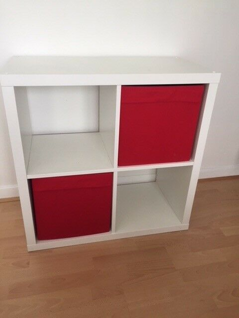 IKEA white storage cube and 2 storage boxes in red | in Sale, Manchester |  Gumtree