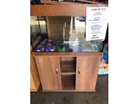 BRAND NEW 125L Aquarium with FREE cabinet, plants, gravel! ONE ONLY