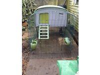 Omlet Eglu Cube chicken coop and 2 meter run