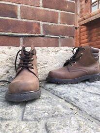 Pair Ladies Leather Walking Boots