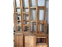 Ikea Ivar shelf unit - lots of shelfs, side supports and three cupboards