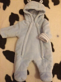 Baby boys snowsuit first size