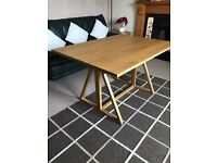 Habitat Heath Oak Folding Table - Very Good Condition