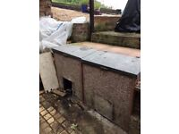 Two concrete coal bunkers, take one or both
