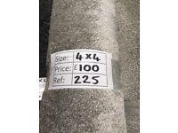 Soft Touch grey carpet remnant - 4x4m - £100 - Ref 225