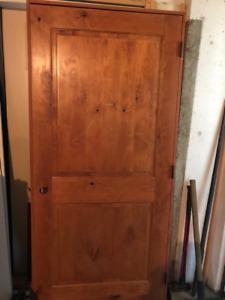 """Pre-hung Knotty Wood Door 36"""""""
