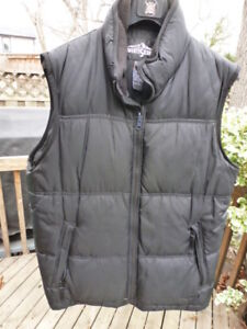 Feather and Down filled vest fleece lined men's medium