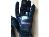 O'neill wetsuit gloves and boots.