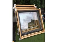 5 x used Velux windows - Pine - GGL S06