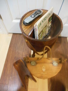 wood- bucket stand, mail box, boot jack London Ontario image 1