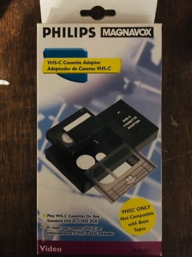 Philips Magnavox VHS-C Cassette Adapter Includes Used Cassette