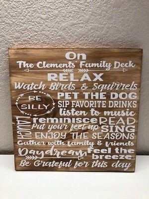 Patio Gift - Patio deck sign, personalized outdoor sign, gift for her, cabin decoration